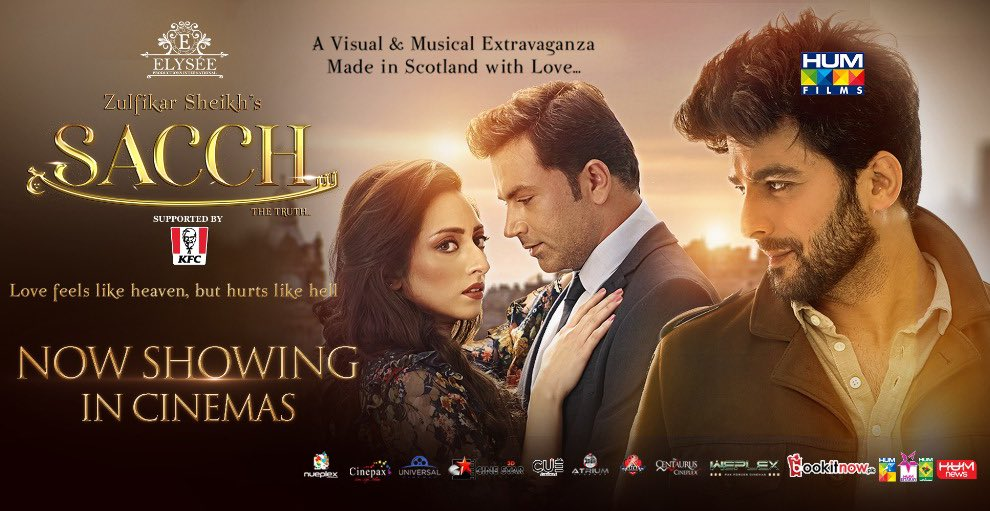 Now Showing in Cinemas #SacchTheMovie . .  #AsadZamanKhan #ElyseeSheikh  #HumayounAshraf #HUMTV #UzmaGillani #JavedSheikh #ZulfikarSheikh #TasminaSheikh #NaumanMasood #FazilaQazi #AyeshaSana #ArishaRazi #SaraRazi #HUMFilms #Lollywoodfilmindustry #HUMPRpic.twitter.com/gqH52mnmyw