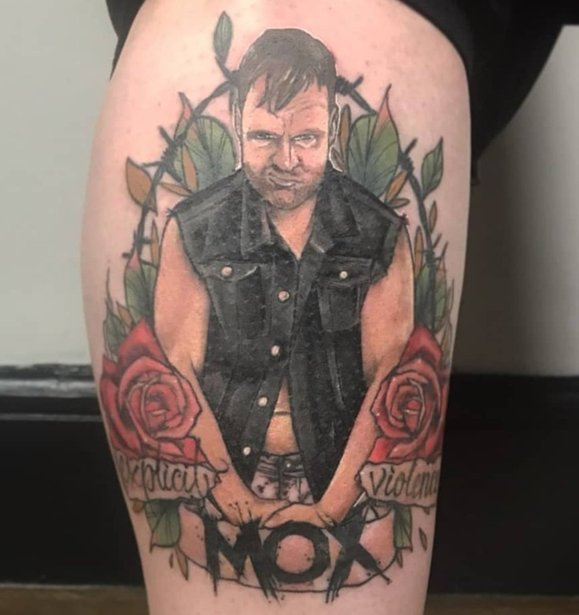 Just cause I went to pin it. Ladies and gentlemen, my @JonMoxley tattoo.. (fresh)