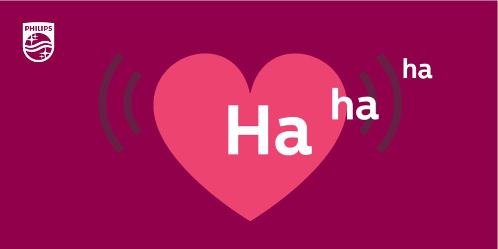 Did you know that laughter could be good for your heart? It reduces stress hormones and has been linked with boosting your immune system! #PhilipsTranslates https://t.co/XYOz6U4cUo