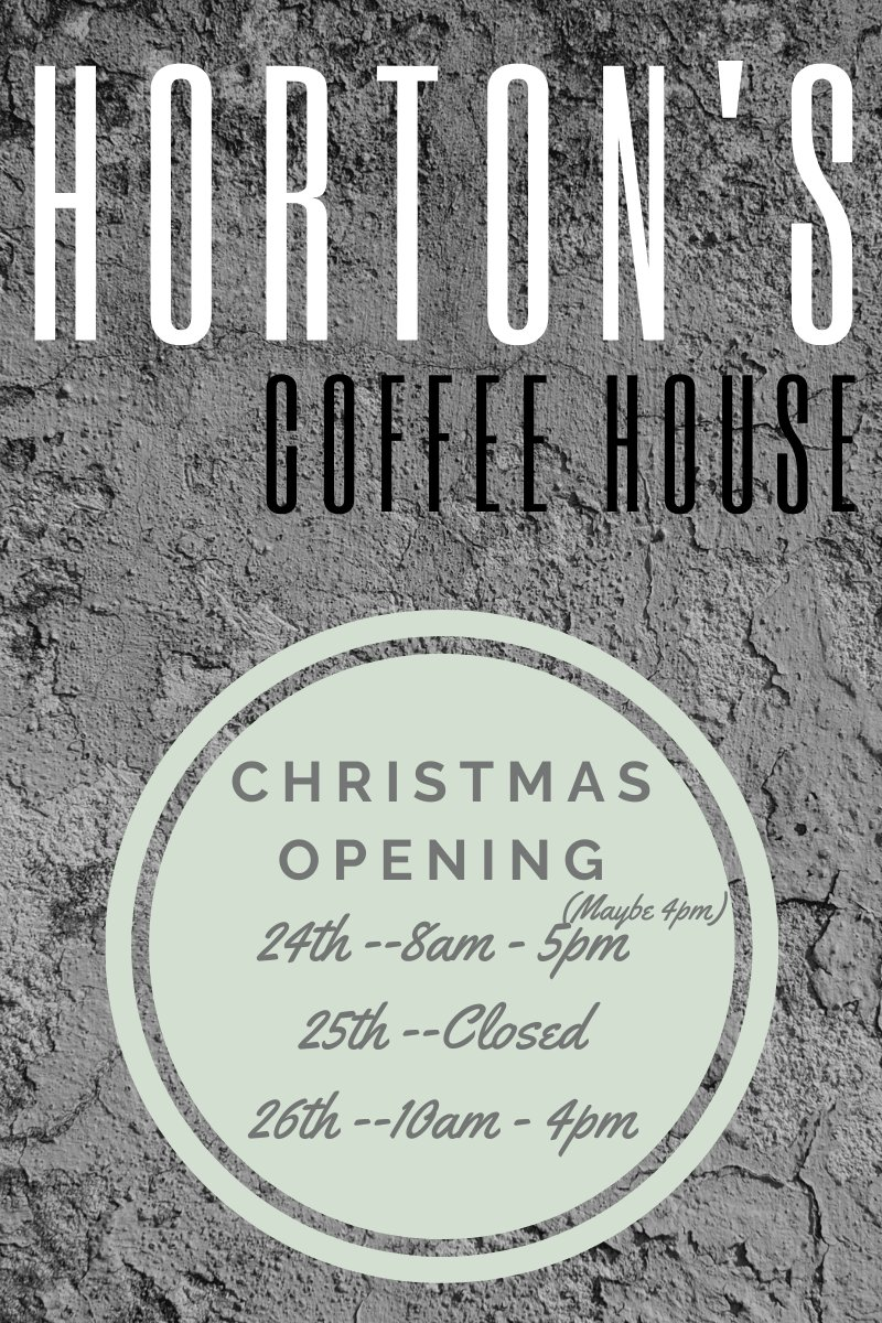 Our Christmas open hours
