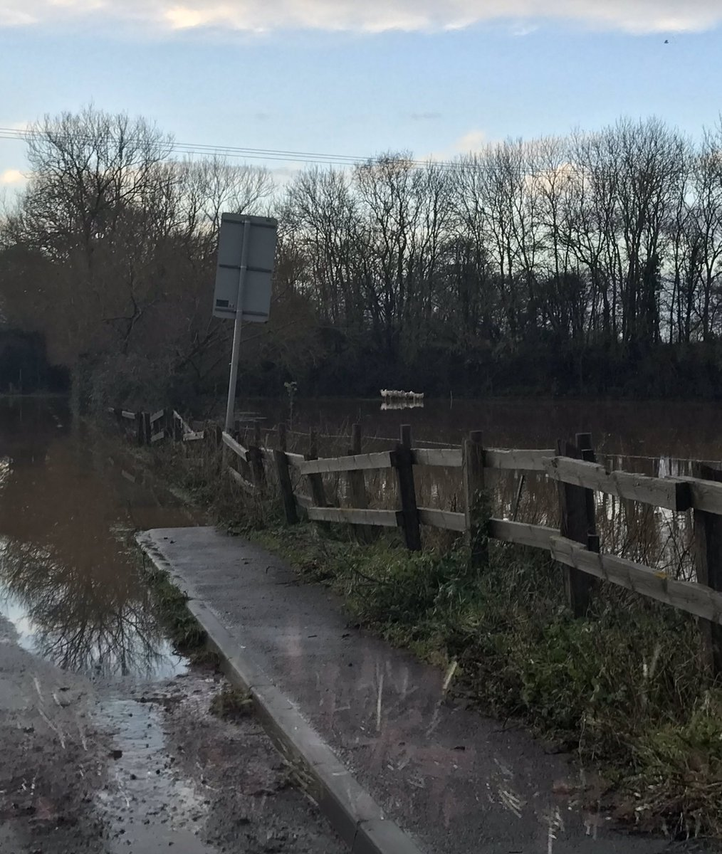 Sheep stranded in Somerset floods this morning. Fortunately farmer was able to rescue them without our intervention this time!! 🐑🐑 💦💦💦 #britishweather #soggysheep @RSPCA_official 16