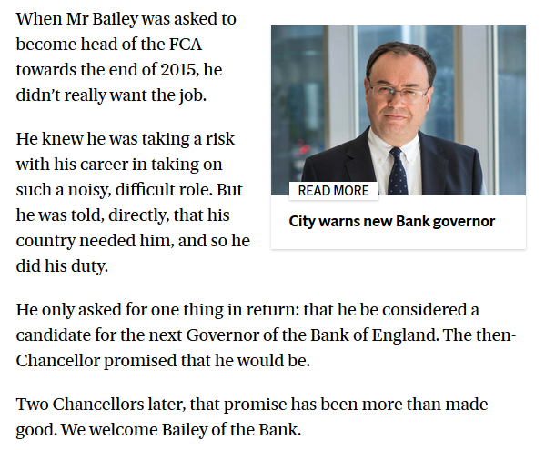 When you know that the editor of the Evening Standard is the then chancellor named here, it adds a little extra to the papers endorsement of the new BoE boss standard.co.uk/comment/commen…