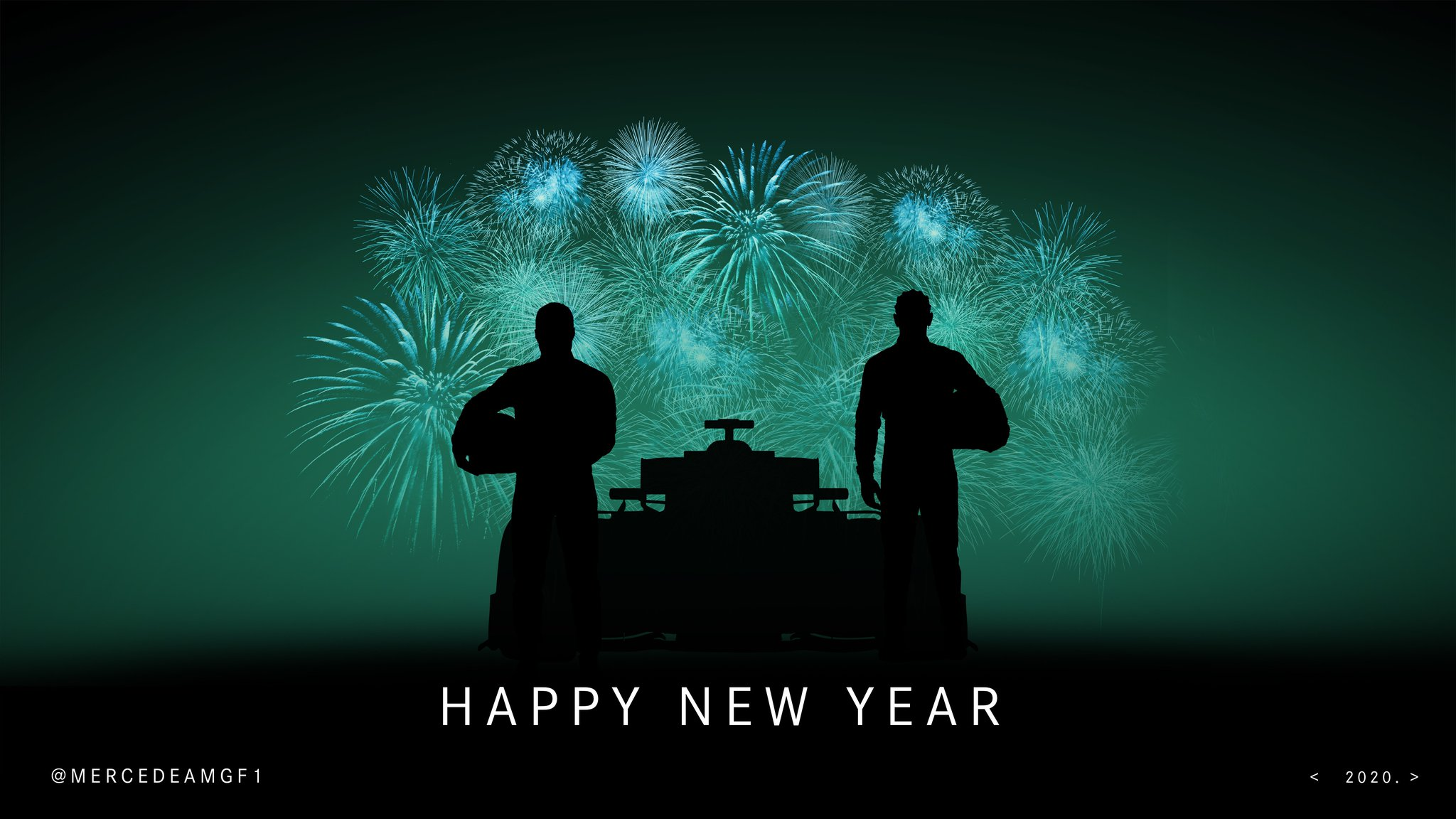 "Mercedes-AMG PETRONAS F1 Team on Twitter: ""🎆 From everyone at the Team,  we'd like to wish you all around the world a Happy New Year! Thanks for all  your support in 2019"