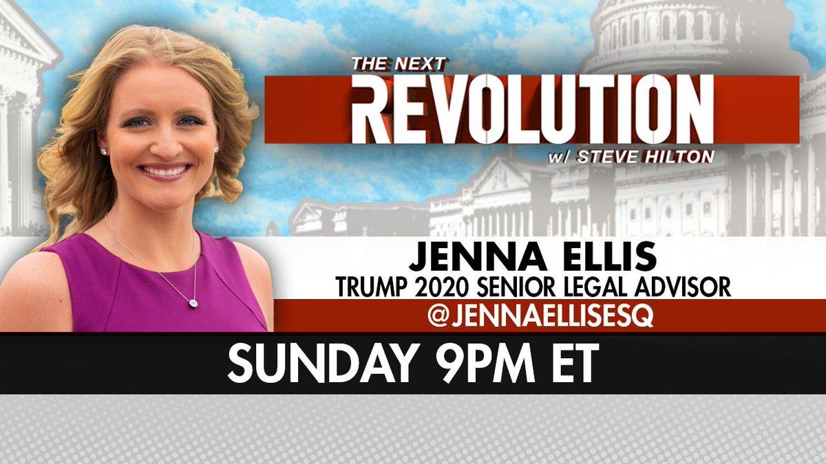 TOMORROW! See @JennaEllisESQ on #NextRevFNC! Tune in at 9pm ET on @FoxNews!