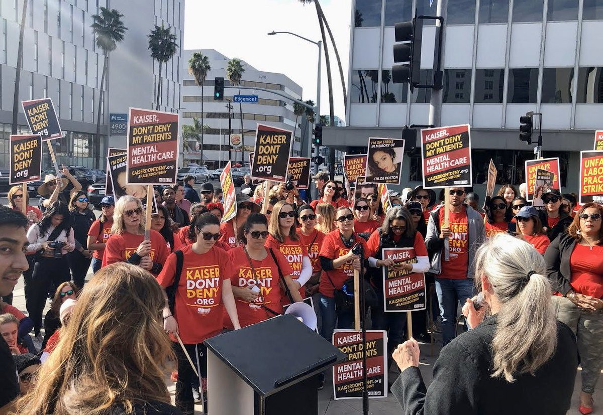 Over 4,000 mental health care providers are striking in California. I support Kaiser workers and @NUHW who are fighting for patients and a fair deal. nuhw.org/kaiser-permane…