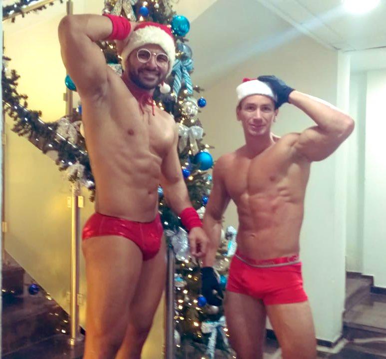 machos en navidad