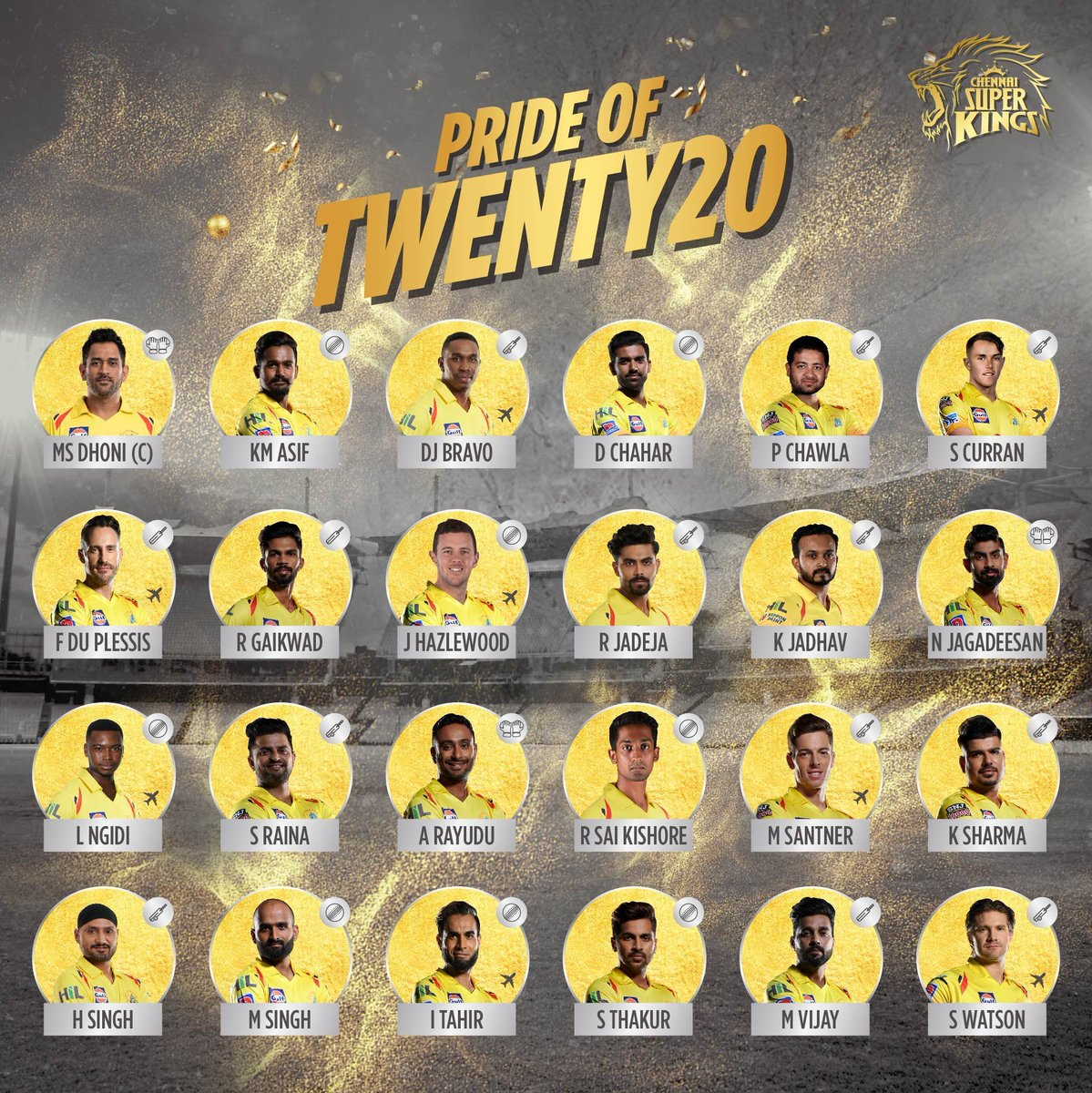 Now we are truly 24/7 #yellove! #PrideOfT20 #WhistlePodu #SuperFam 🦁💛
