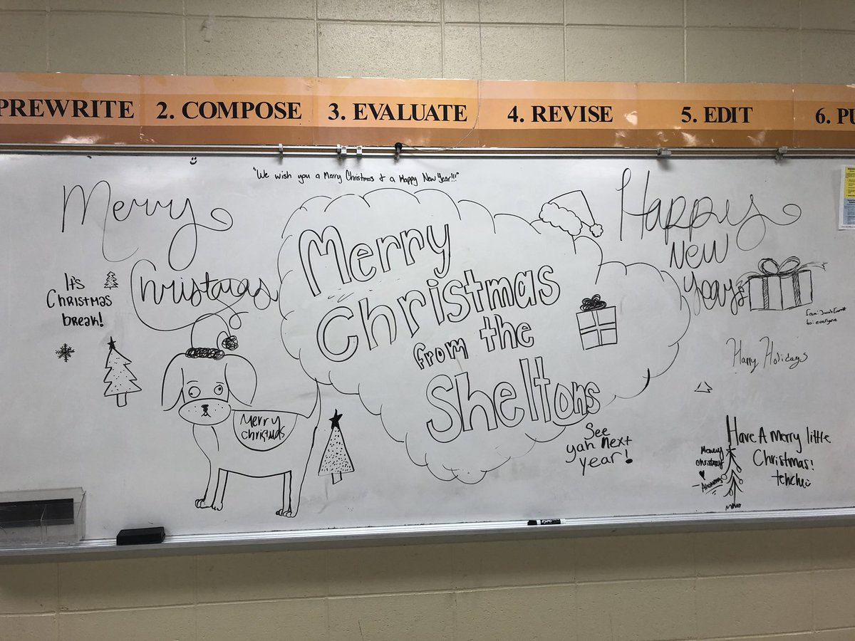 And this is how my students left it at the end of a great first semester at #pellcityhighschool.