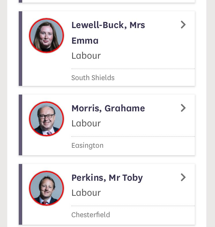 Six Labour MPs voted for the WAB: