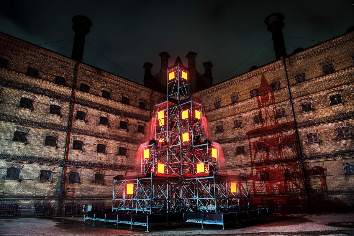 """Go Vilnius on Twitter: """"Uncover the best-kept secret in #Vilnius - a light  installation in a courtyard of the recently closed Lukiškės #prison open to  the public. Find out more: https://t.co/1GkjQsxaFc #AlternativeChristmas #"""