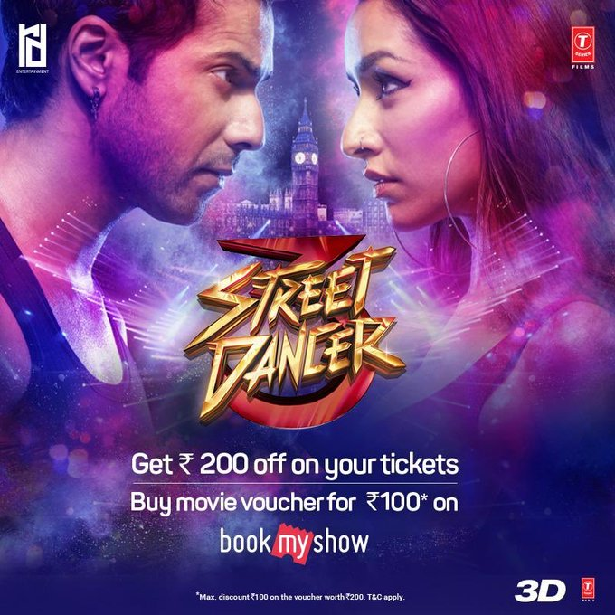 Be a part of the biggest dance battle of 2020! 🔥🕺🏻 Advance booking of #StreetDancer3D opens now on Book