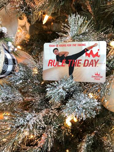 Giving the best stocking stuffers this year. @Smoothie King gift cards help my friends #RuleTheDay