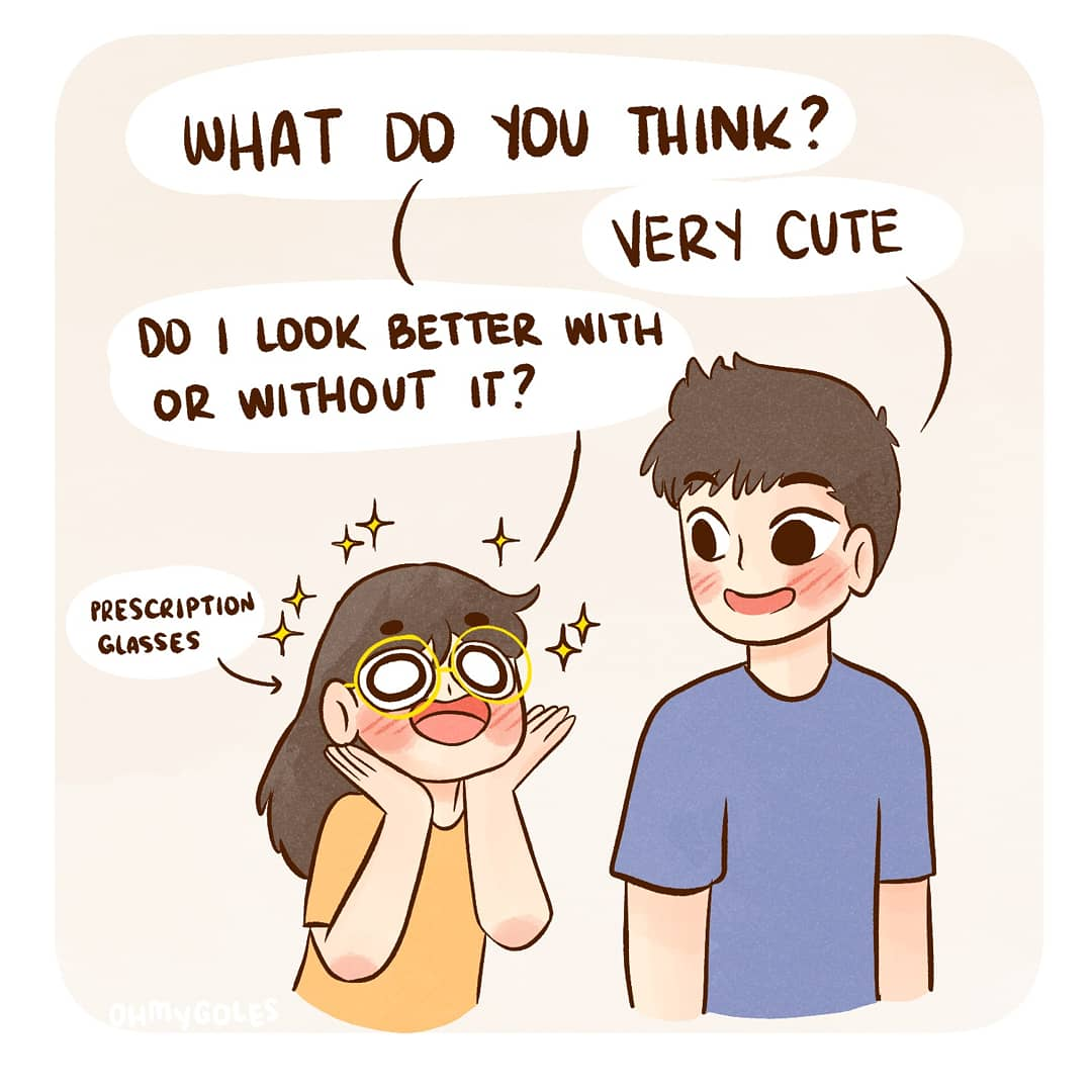 My eyesight is actually pretty bad and wear glasses all the time. My height isn't the only one that's short! #shortsighted  Reference from Dr. Stone :> #drstone #comic #comics #comix #funnycomics #eyesight #couplegoals #relationshipcomic #cutecomics #relatablecomics pic.twitter.com/tbFhTy5lIy