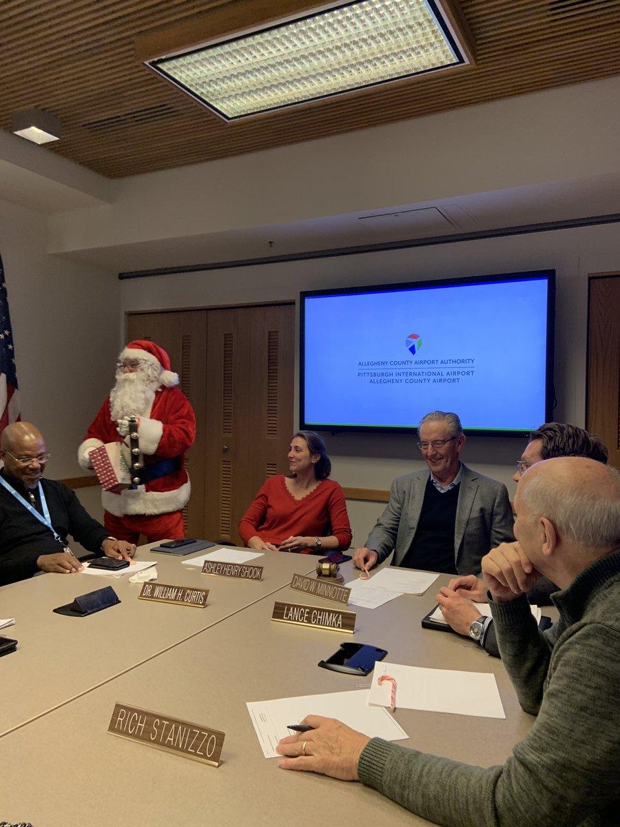 We had a visitor at today's @PITairport board meeting. #HoHoHo