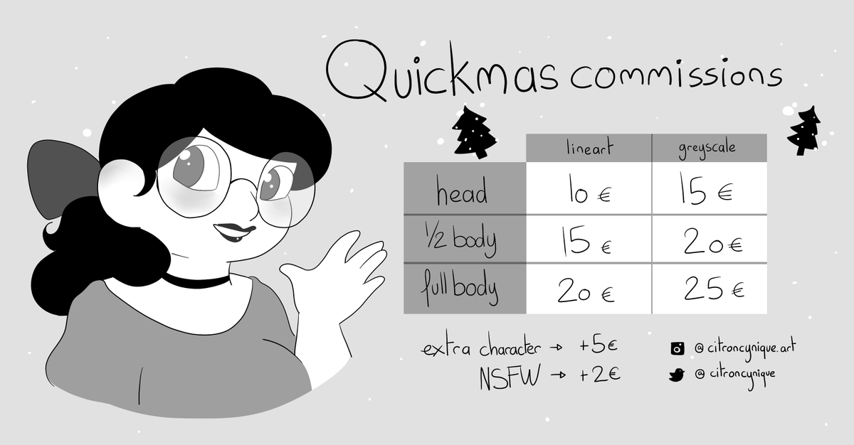 Want a quick commission of your oc or your otp for christmas? All fandoms welcome!  Paypal only- DM me for more info! 🎄💛  #commissions #artistsontwitter https://t.co/Y3flZDgF4t