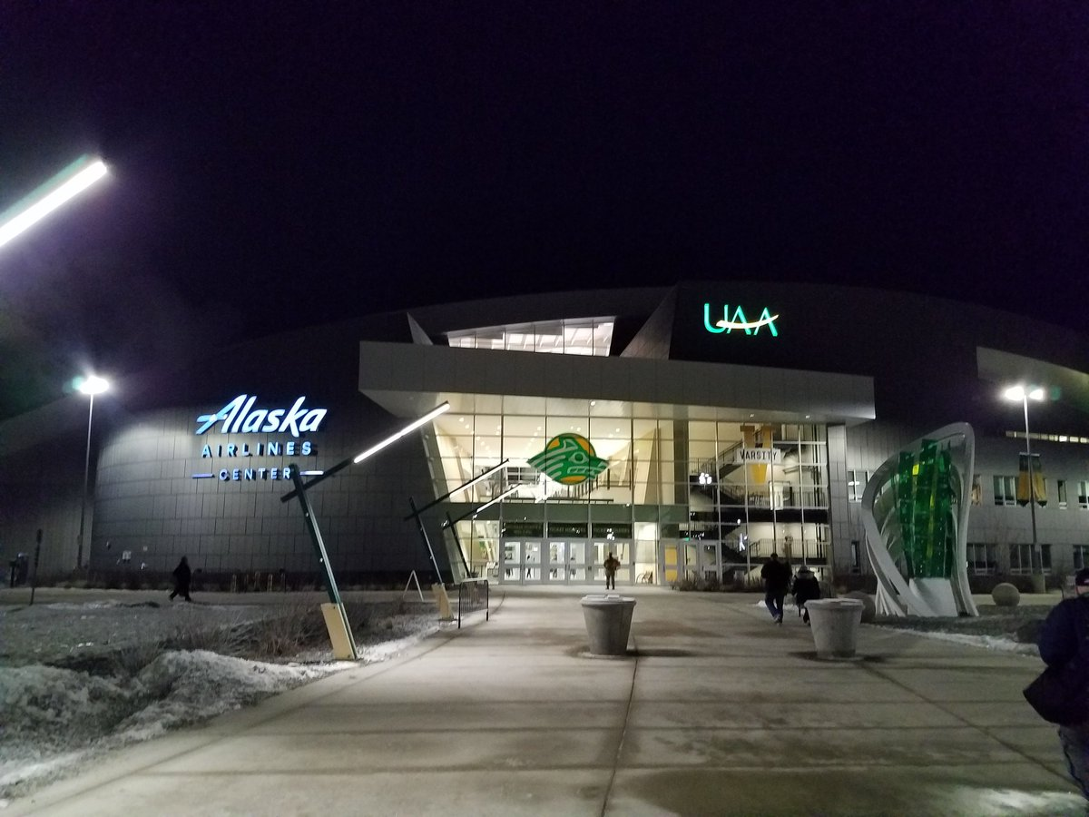 Early morning at the ASAA State Wrestling Championships in Anchorage, AK