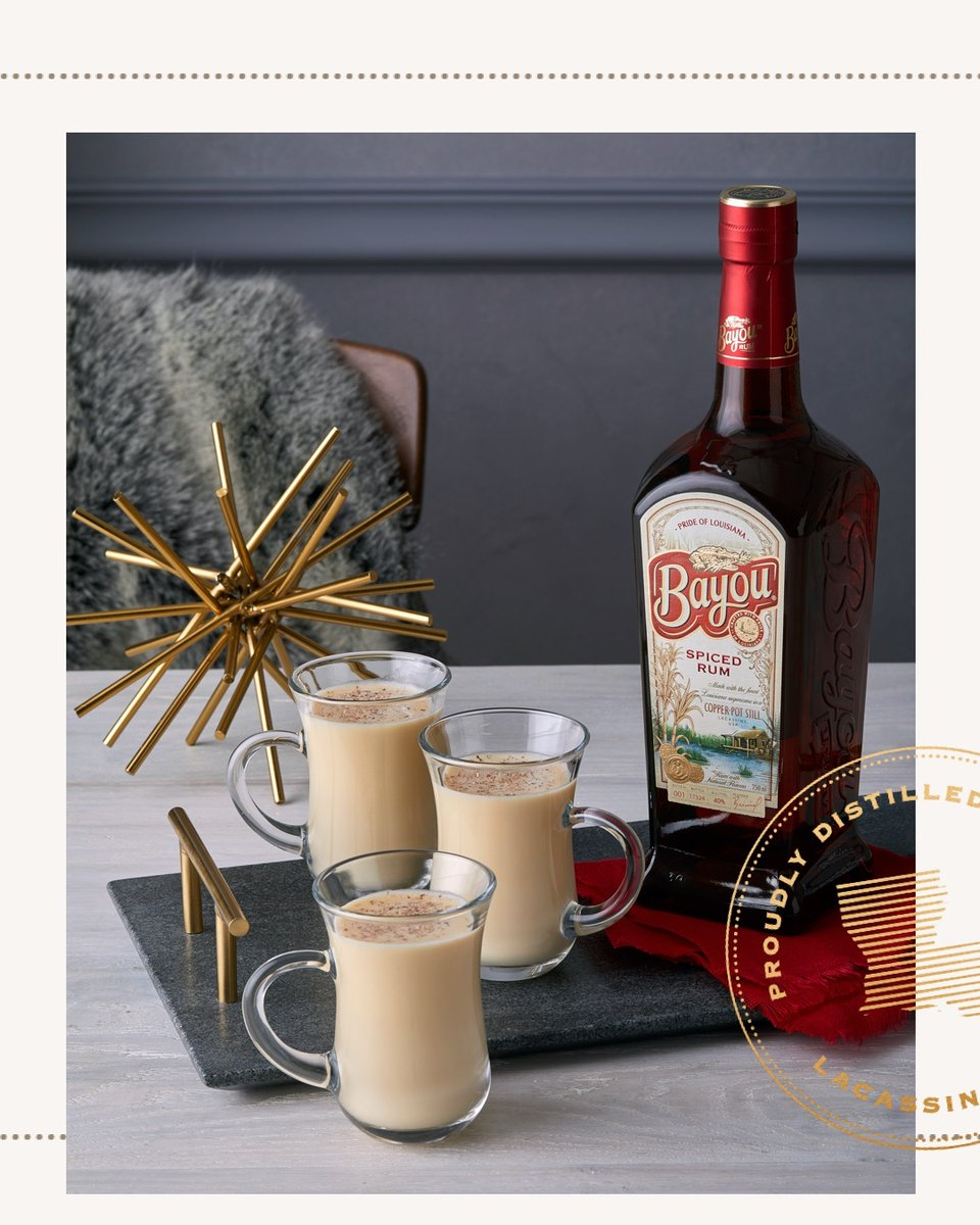 Ring in the holidays with #TheFlavorOfLouisiana. Join our #CraftRum family this season in enjoying the Spicy Nogg cocktail featuring Bayou Spiced Rum. pic.twitter.com/qrtuRMb0UW