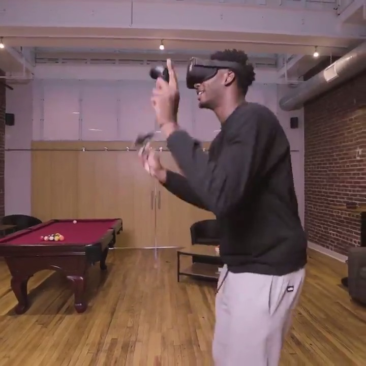 Jaren Jackson Jr. is jumping into a new reality. Watch as he explores the worlds of Beat Saber, Creed: Rise to Glory, and more on @oculus VR.