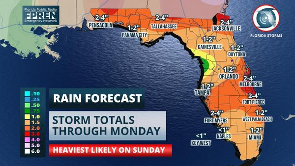 A soaking rain is expected Sunday, with possible flooding in some areas. bit.ly/2sKdEPT