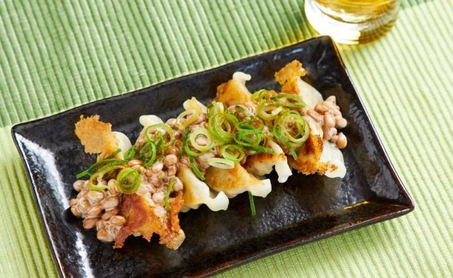 「悪魔のネギマヨ納豆餃子」納豆と餃子って実はかなり相性がいいんです
