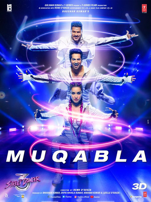 The streets will be LIT when #Muqabla will hit the speakers! 🔥  Song out today at 11 am! #StreetDancer3D