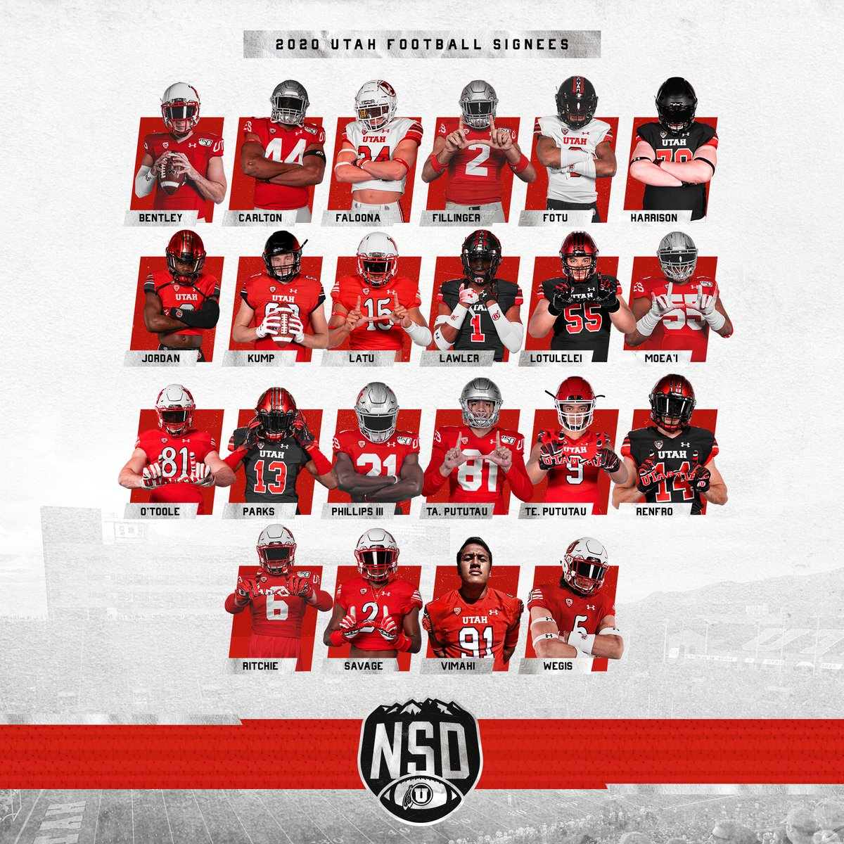 The future of Utah Football. Welcome to the family, #UBoyz.