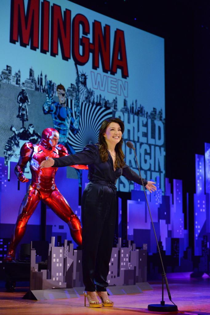 .@MingNa takes the stage to pay tribute to Stan the Man! We're #CelebratingStanLee tonight at 8|7c on ABC!