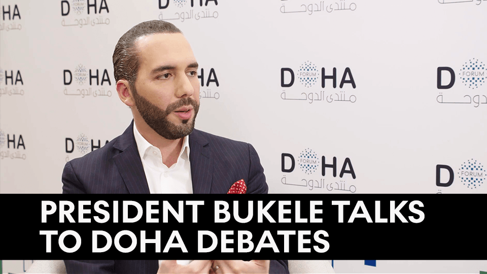 """""""It's the fault of the society we created as Salvadorans that failed them and made them take that risk of going on a journey that ended up, ends up that way.""""  Salvadoran President @nayibbukele shared his views on the growing refugee crisis."""