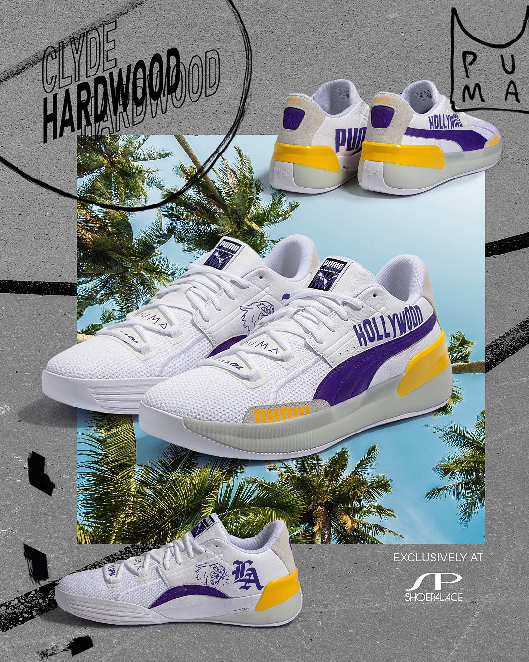 Shoepalace Com On Twitter Shoe Palace Exclusive Puma Pumahoops Clyde Hardwood Only 150 Pairs Hand Painted By Alexander John Dropping Online Only At Https T Co O6e90gytfl On Sunday 12 22 Will Be