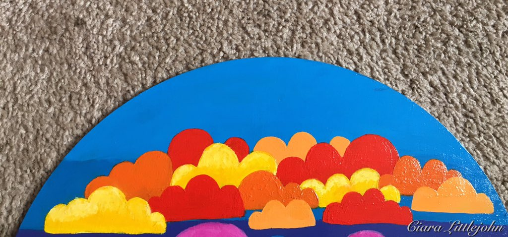 FOR SALE - Cl0ud Nin9 price: $150.00 medium: acrylic on plexiglass  . . . .  #sunset #clouds #colorfulclouds #colorful #blue #magenta #red #lightblue #lightorange #lightpurple #purple #orange #yellow #yelloworange #sun #sunny #artistsoninstagram #artist #art #artwork #plexipic.twitter.com/YN0pV62cBC