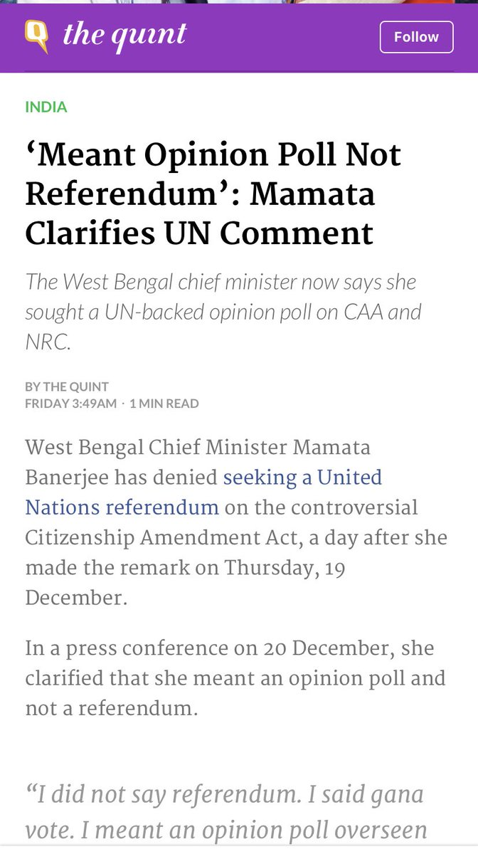 Apparently United Nations runs opinion polls. This is a Chief Minister of an Indian state.