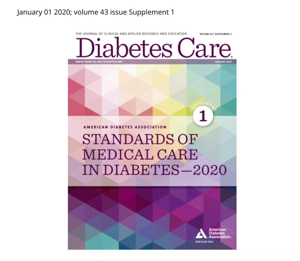 atención médica estándar diabetes 2020