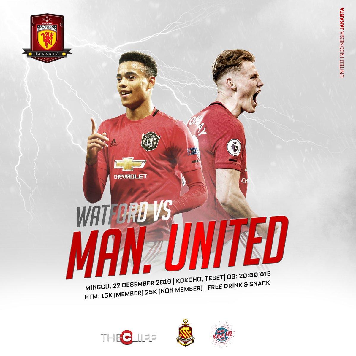 #LiveScreening Watford vs Manchester United, Besok! Di kedai Kokoho Tebet, Open Gate: 20.00, Htm? 15k member dan 20k untuk non member!   #UIJKT https://t.co/TQZB8Z764A
