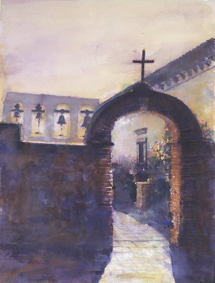 Entry to Sacred Garden, Mission San Juan Capistrano #watercolor #painting #California #OrangeCounty #history #architecture #hispanicheritage #missiontrails https://daviddpearce.compic.twitter.com/dkSXBaornx