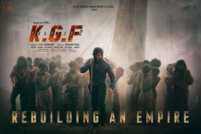 KGF Chapter 2 Movie Poster: फिल्म केजीएफ चैप्टर 2 का First Poster