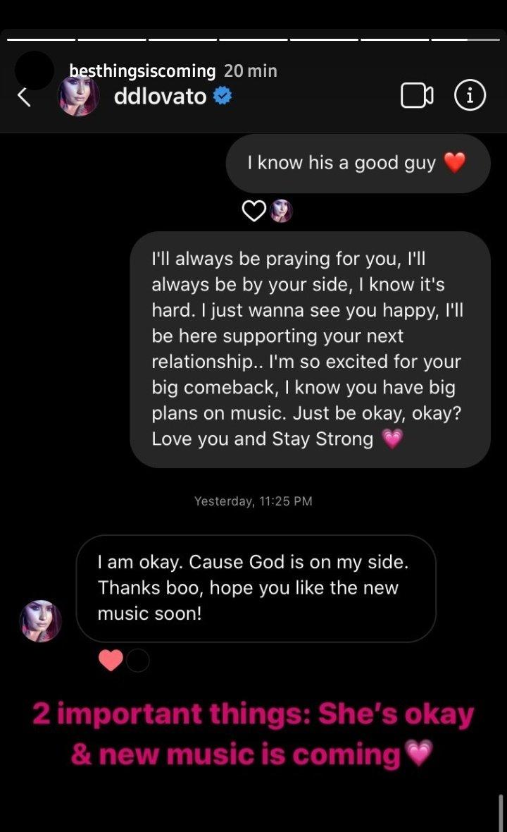 """Portal Lovato على تويتر: """"Tradução Fã: Eu sempre estarei orando por você,  eu sempre estarei ao seu lado, eu sei que é difícil. Eu só quero vê-la  feliz, estarei aqui para apoiar"""