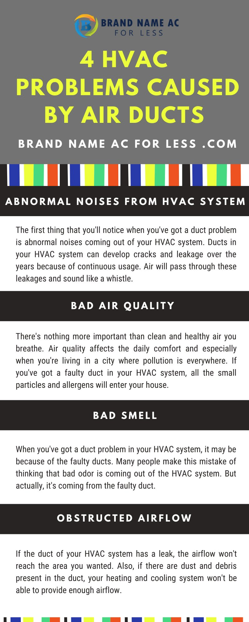 4 HVAC Problems Caused By Air Ducts [Infographic]