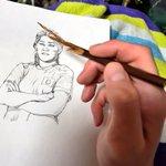 吉田沙保里を描いた結果?鉛筆がやられた!