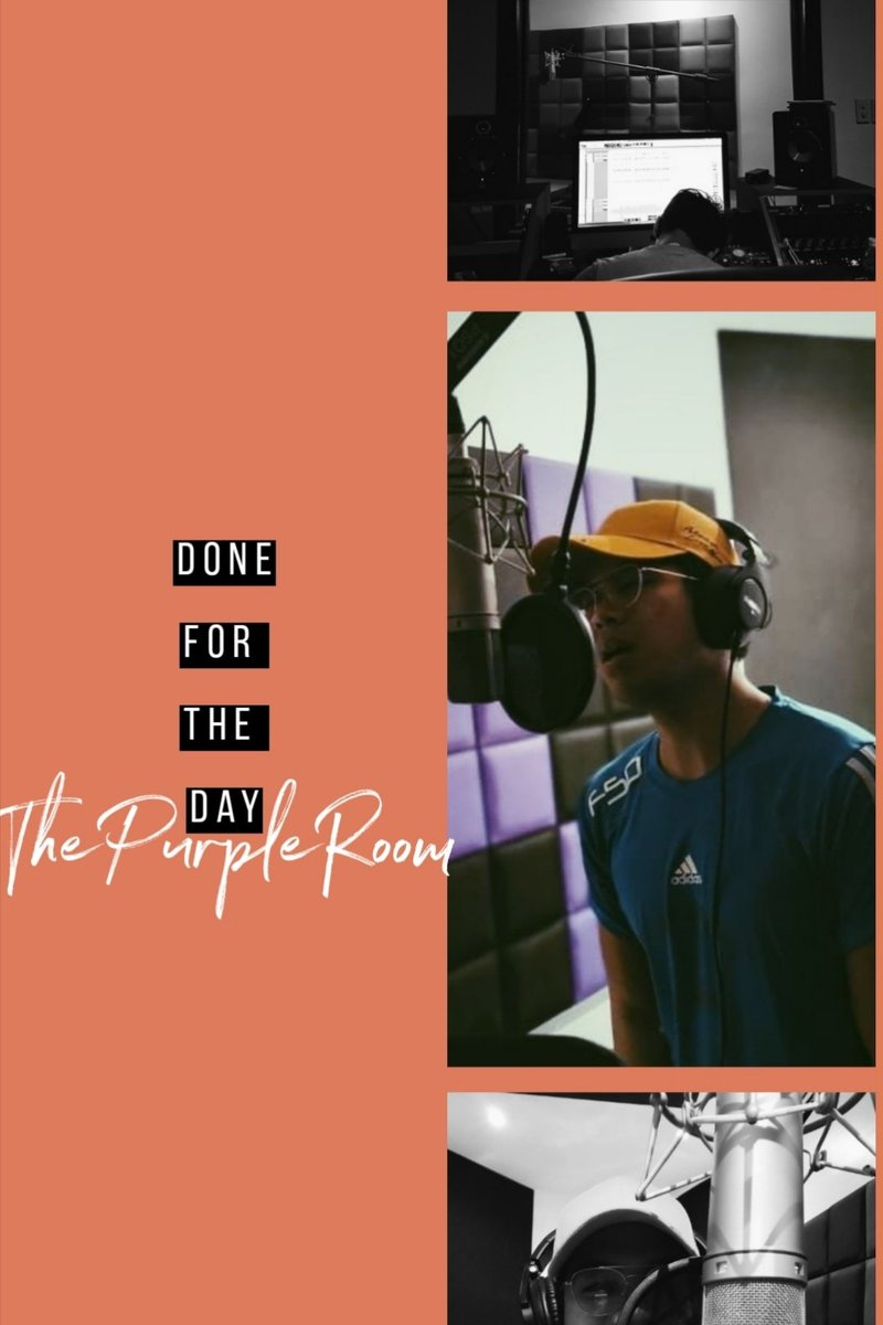 Went in again for another vocal sesh for my song. Sana umokay na 😂