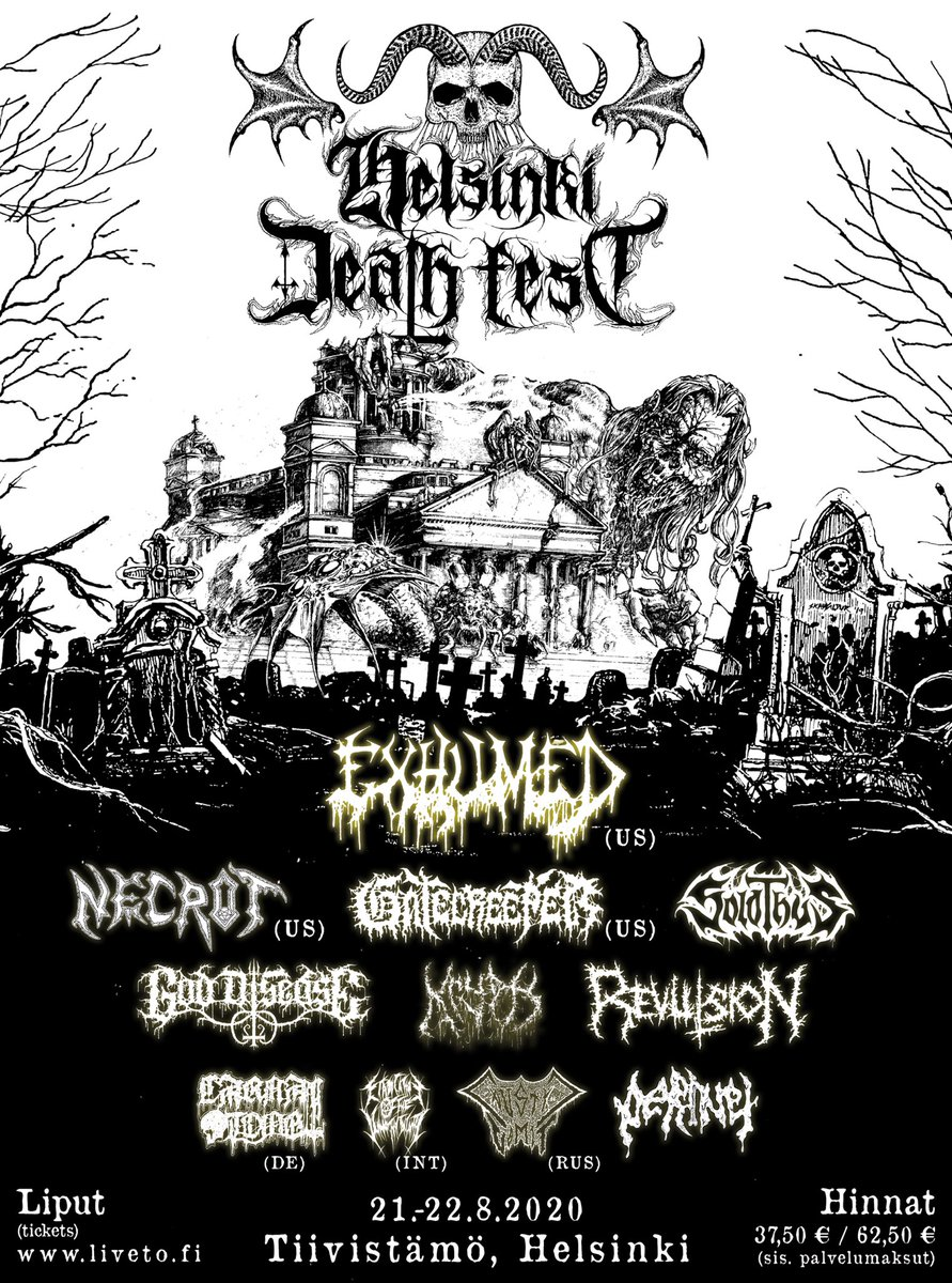 We are playing HELSINKI DEATH FEST next year