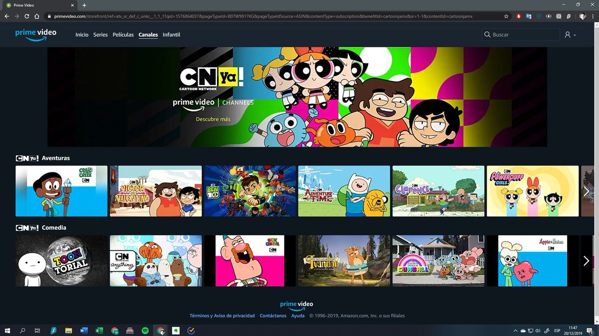 Regularcapital A Twitter Cartoon Network Latin America S Streaming Service Cartoon Network Ya Is Now Available Via Amazon Prime Channels In Mexico For 69 Pesos Per Month Cn Ya Was Added On