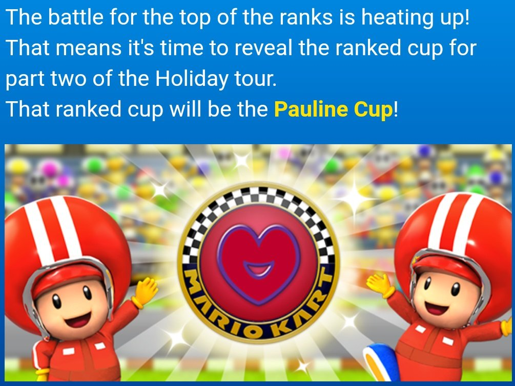 Mario Kart Tour News On Twitter Holiday Tour Ranked Cup