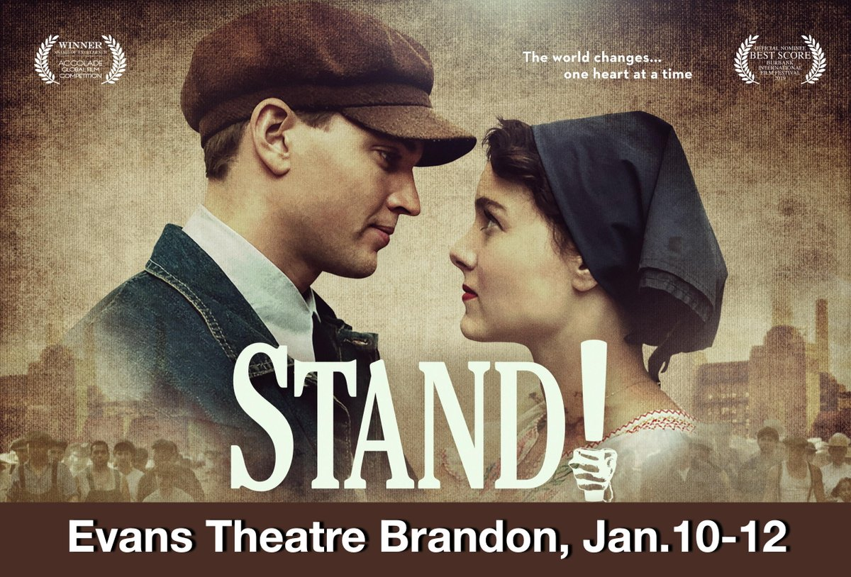 Come one, come all #Brandon at the @evanstheatre, January 10th, 11th & 12th. 7:30 PM daily. Tickets at the door only. Join composer/producer/co-writer, Danny Schur, for a Q & A at the Saturday screening. #StandMovieMusical #Union #Solidarity #CanLab #1Upic.twitter.com/0b0X7hbUuw