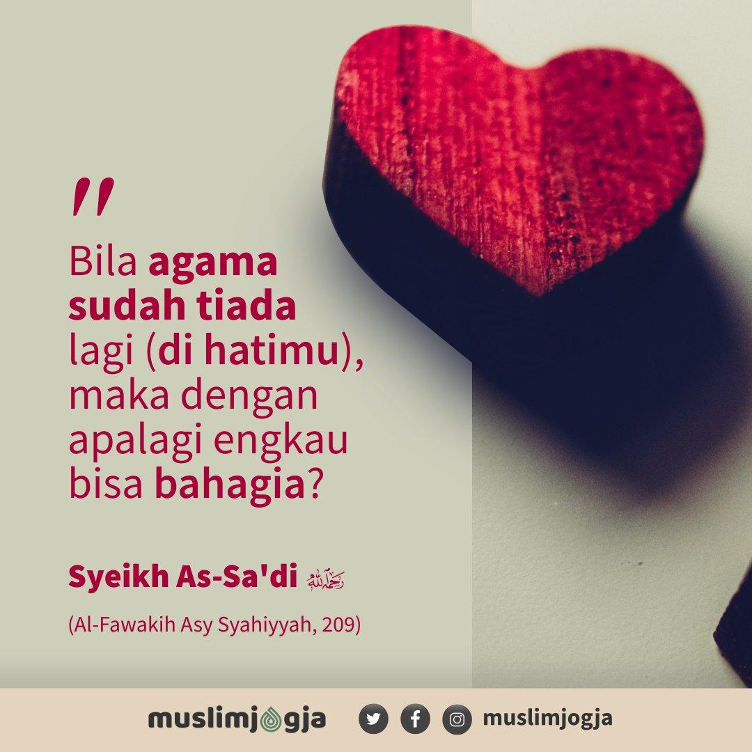💡 Bila agama sudah tiada lagi (di hatimu), maka dengan apalagi engkai bisa bahagia ?⠀ ➖➖➖➖➖➖➖➖➖➖➖➖➖➖➖➖➖➖⠀ 📔 Syaikh As-Sa'di -rahimahullah-, Al Fawakih Asy Syahiyyah, 209⠀ https://t.co/AZgwx5eYKz