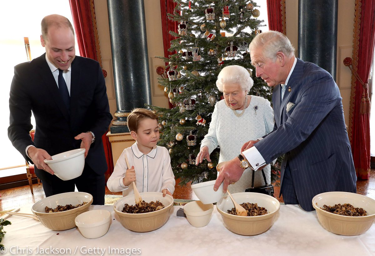 The Queen, The Prince of Wales, The Duke of Cambridge and Prince George prepared special Christmas puddings which will form part of 99 puddings distributed by @PoppyLegion across the UK and the Commonwealth, as the charity marks its 99th year in 2020.
