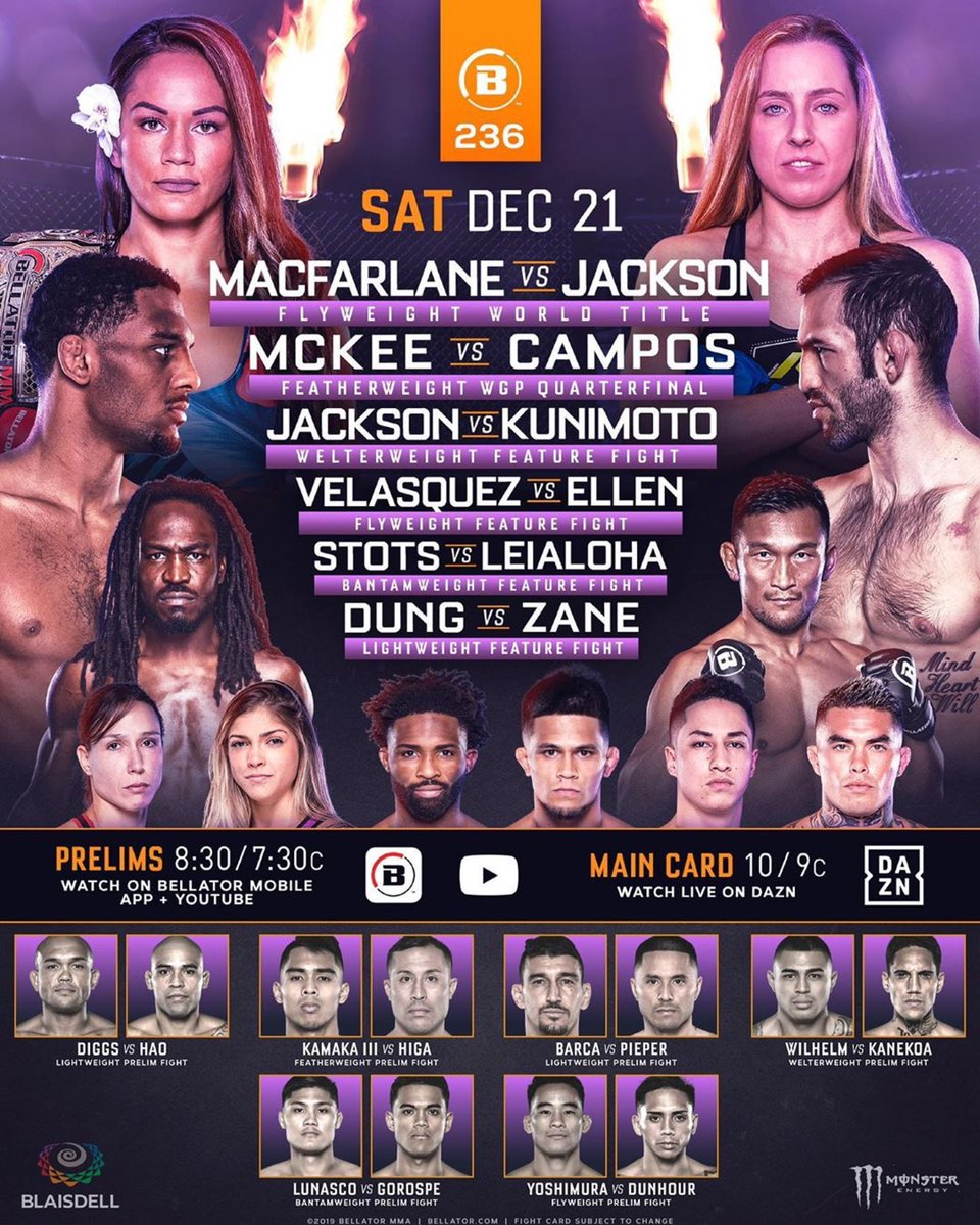 Tonight #BellatorHawaii