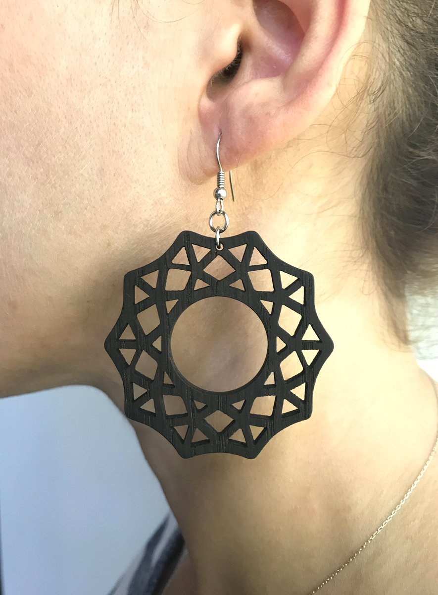 #cmylasercrafts #jewelry #earrings #accessories #handmadejewelryforsale #giftideas #woodearrings #moda #design #earringsdesign #summer #designer #handmadeearrings #earringshandmade #σκουλαρίκια #lasercutearrings #etsyshop #statementearrings #wood #mydesign #Conversationpiece