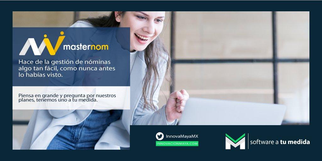 Administra la #nómina de tu #empresa tan fácil como nunca antes lo viste. ¡Pide tu #demo de #Masternom hoy! tenemos un plan  #AtuMedida 222 237 4715 📲😃 #facturaciónElectrónica #softwaredevelopment  #Software #desarrolloDeSoftware #pymes #gestiónDeNómina