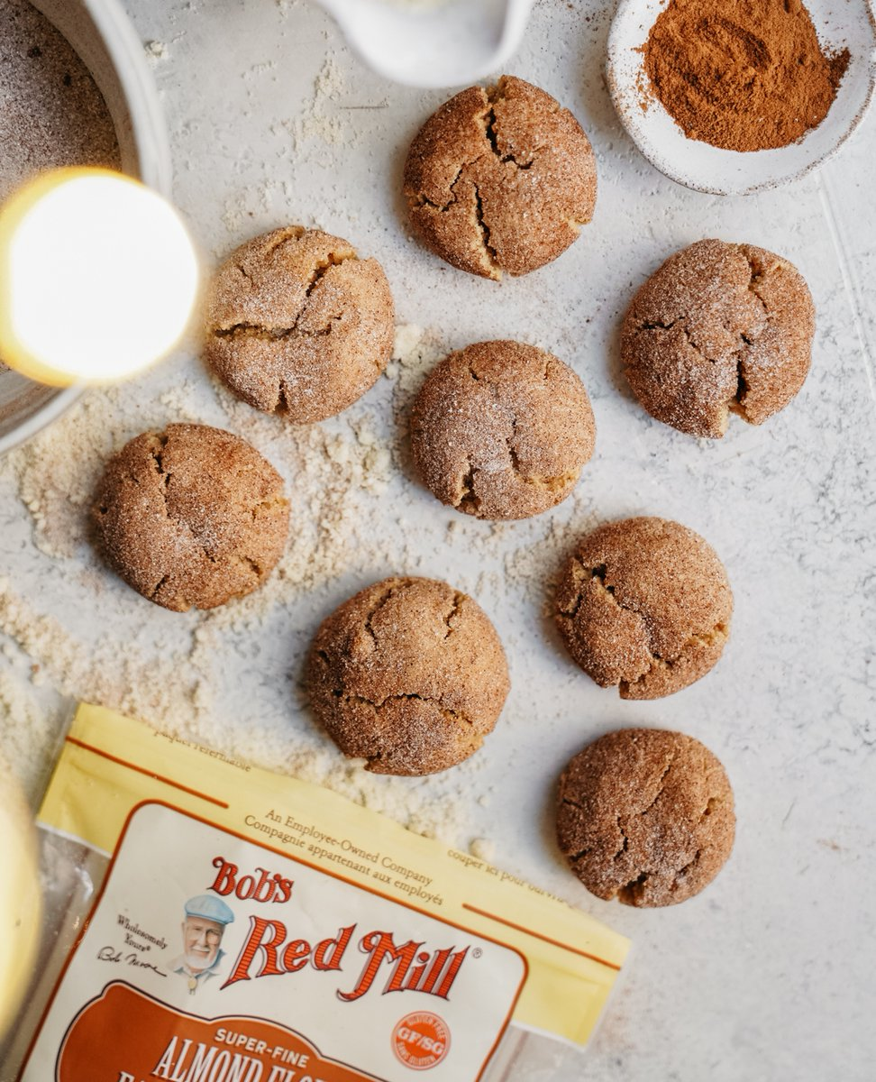 Bob S Red Mill On Twitter Vegan Almond Cinnamon Sugar Cookies From Foodbymaria Are Easy Naturally Glutenfree Vegan And Super Tasty Just Whisk Together A Little Almond Flour Sugar Cinnamon Baking Powder