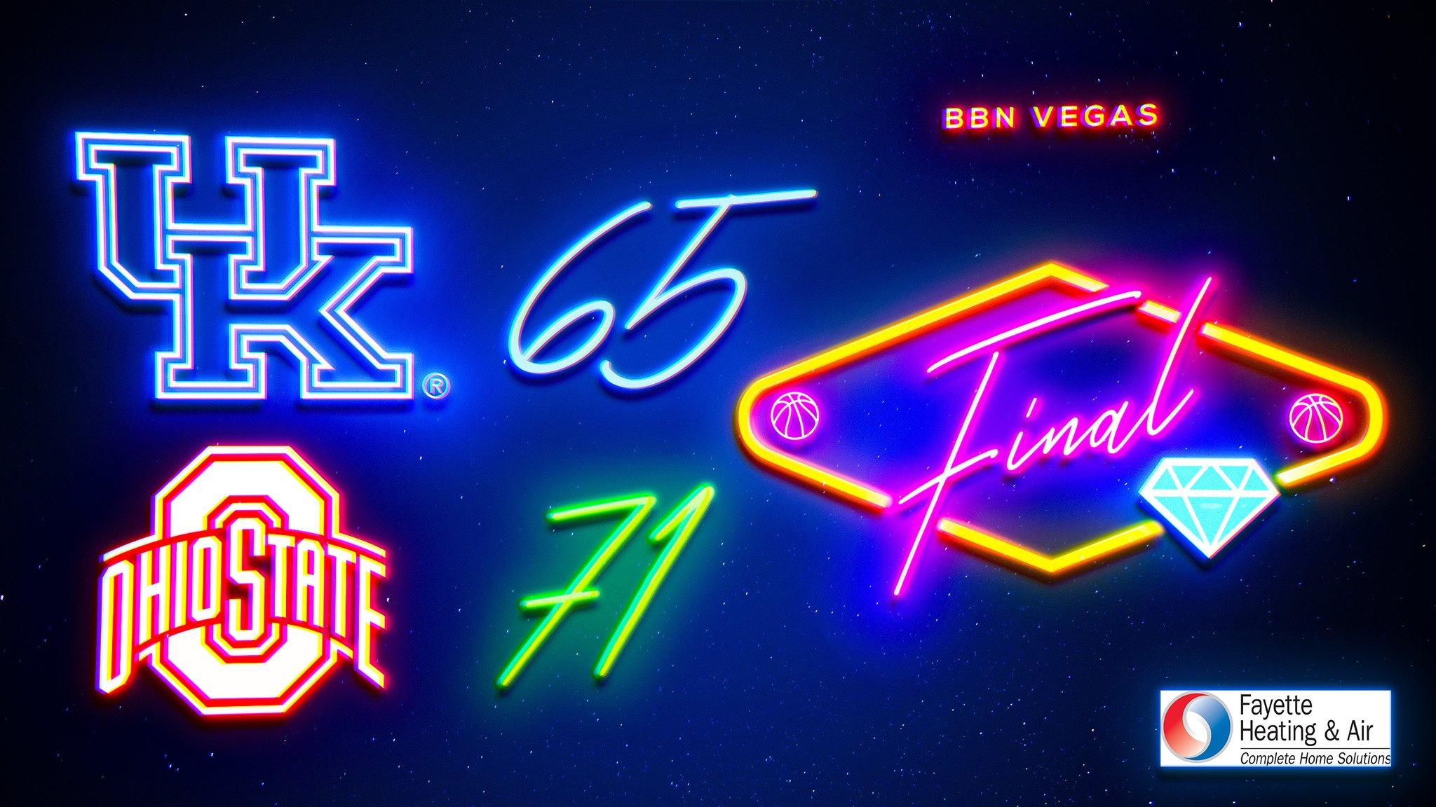 Kentucky Basketball On Twitter Final Score From Vegas